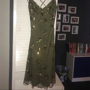 Betsy Johnson Green Sequin Dress - Size 6 - Small